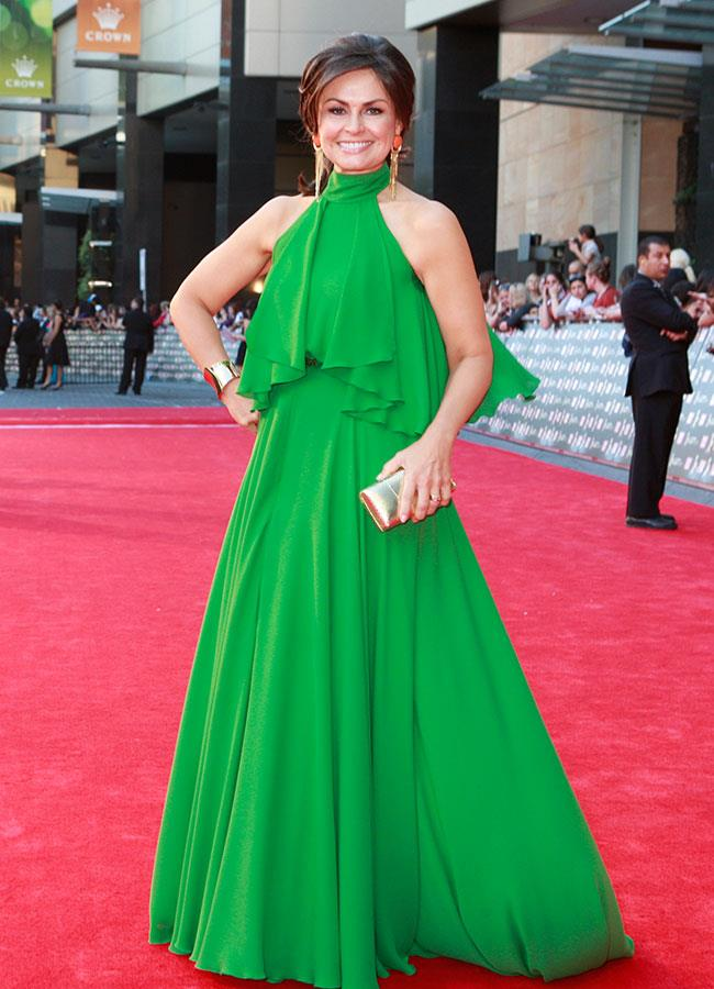 *Today* co-host Lisa Wilkinson looked elegant in green at the Logie Awards in 2012.