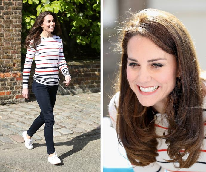 "Not long to go now! As the London marathon draws closer, [Duchess Catherine](http://www.nowtolove.com.au/royals/british-royal-family/the-british-royal-family-celebrate-easter-36710|target=""_blank"") invited some of the runners from the Heads Together team over to Kensington Palace on April 19."