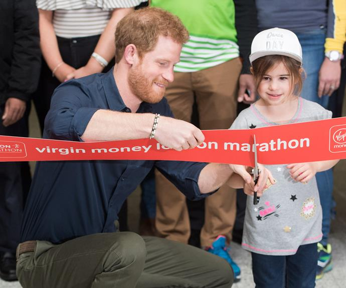 "On the same day, her brother-in-law [Prince Harry](http://www.nowtolove.com.au/royals/british-royal-family/prince-harry-says-he-had-counselling-36709|target=""_blank"") opened the 2017 Virgin Money London Marathon expo. With a little help from his mini-assistant, the pair successfully cut the ribbon but it's what happened next that had the crowd in stitches..."