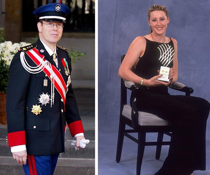 Jana met Albert at the 2000 IAAF World Athletics gala, where she won an award (R).