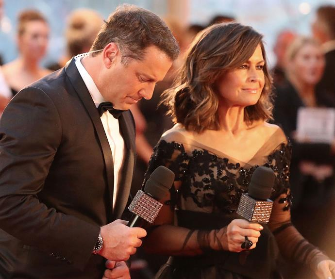 *Today*'s Karl Stefanovic and Lisa Wilkinson get ready to work the red carpet.