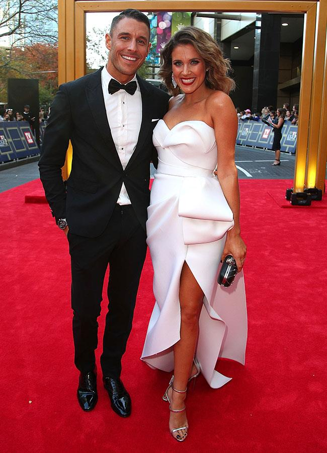 *The Bachelorette's* Georgia Love and Lee Elliot looked the picture of happiness in matching monochrome outfits.