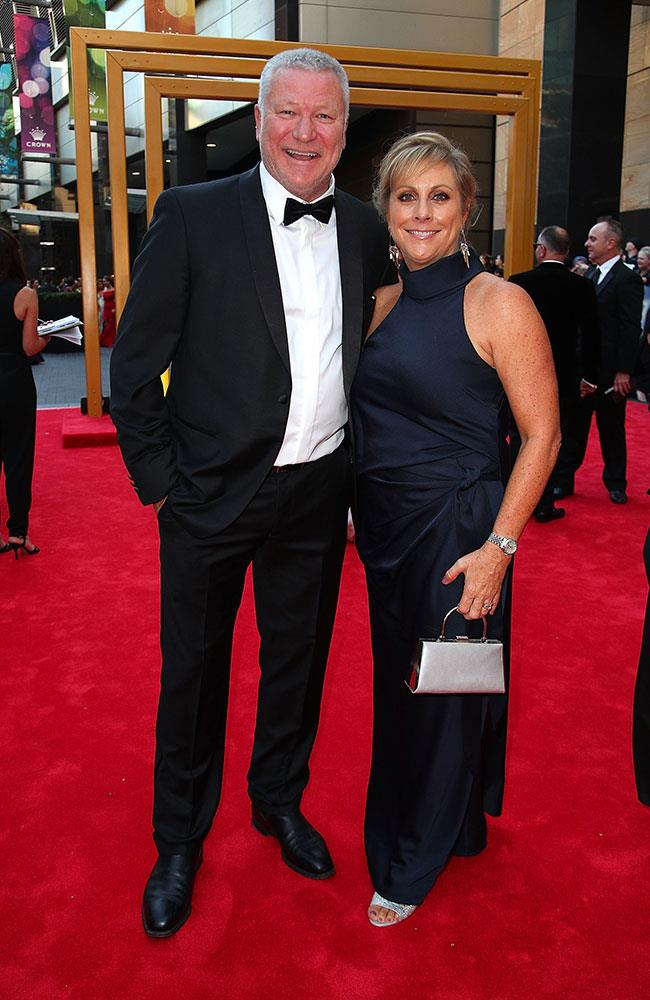 *The Block's* Scott Cam with his wife Ann, who looked radiant in a navy gown.