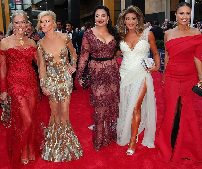 The *Real Housewives of Melbourne* know how to make an entrance.