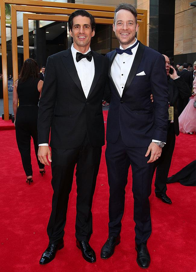 So these guys might not be in love, but they are a cute couple! Hamish and Andy suit up at the 2017 TV WEEK Logie Awards.