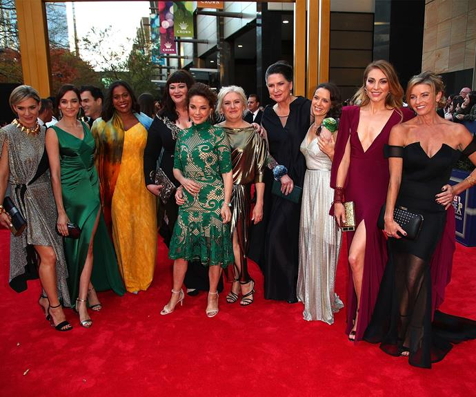 The cast of *Wentworth* band together.
