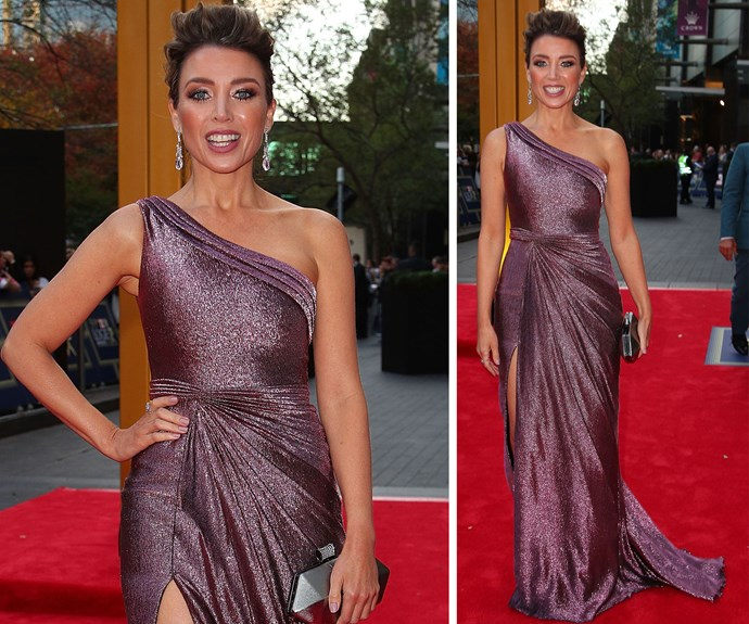 Logies ambassador Dannii Minogue is flawless in this glittering lilac ensemble.
