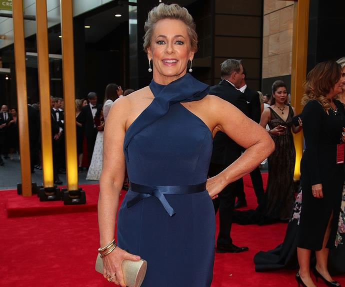 Amanda Keller rocks her navy dress.