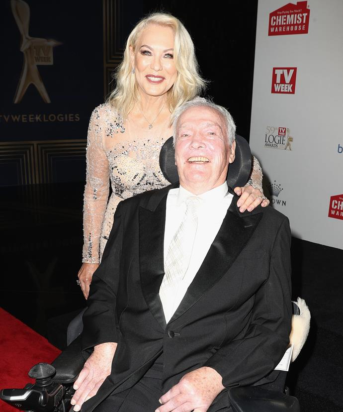 Kerri-Anne Kennerley and John at the Logies 2017