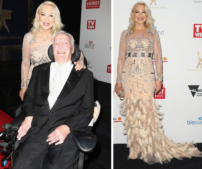 Kerri-Anne Kennerley arrives with husband John - looking amazing of course!