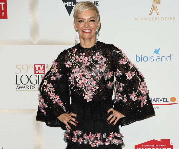 Jessica Rowe's 3D floral dress looks amazing.