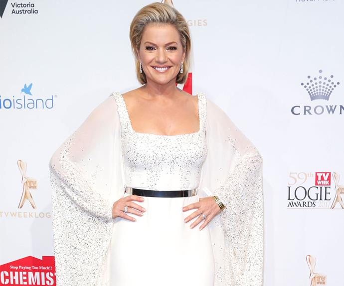 Sandra Sully looks ethereal in this white gown.