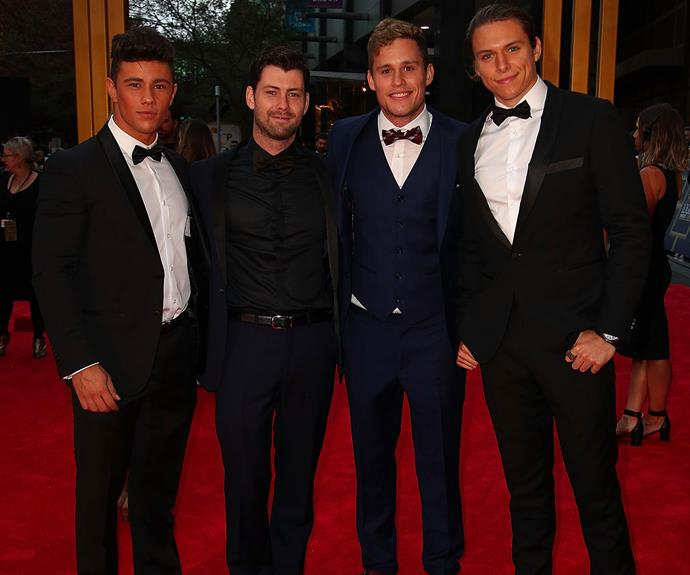 The boys of *Home and Away* step out.