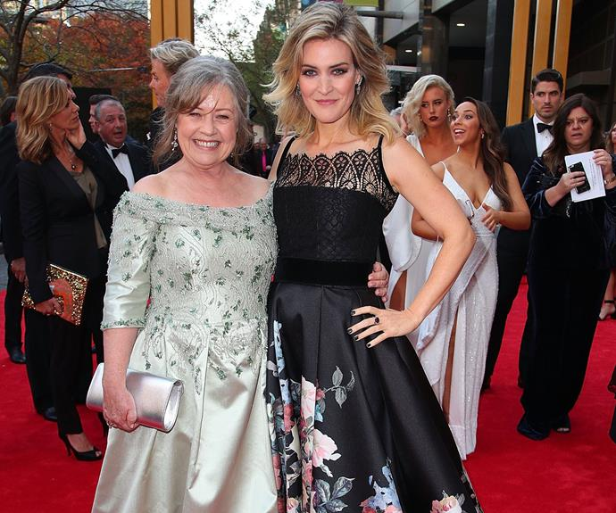 Noni Hazlehurst and co-star Jenni Baird strike a pose.