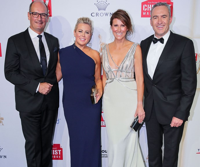 *Sunrise* stars Kochie, Samantha Armytage and Natalie Barr are all smiles!