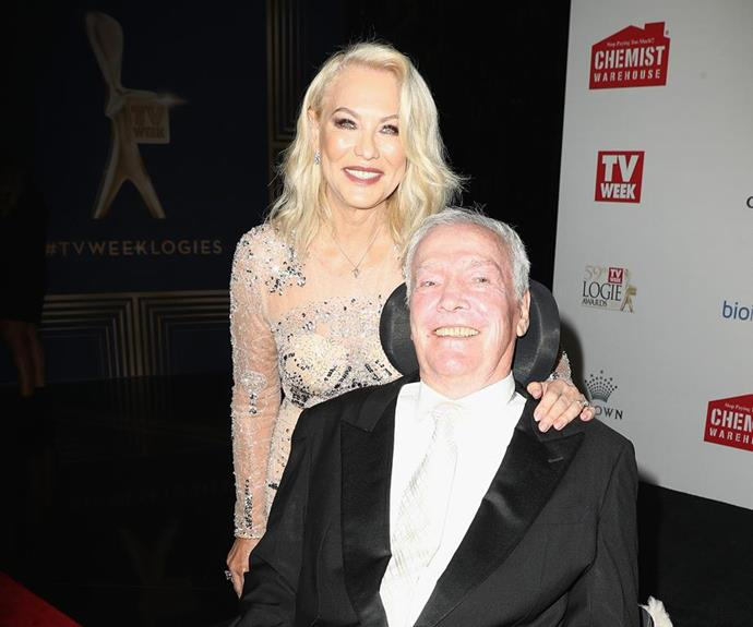 KAK and John share a special moment at the TV WEEK Logies in April.