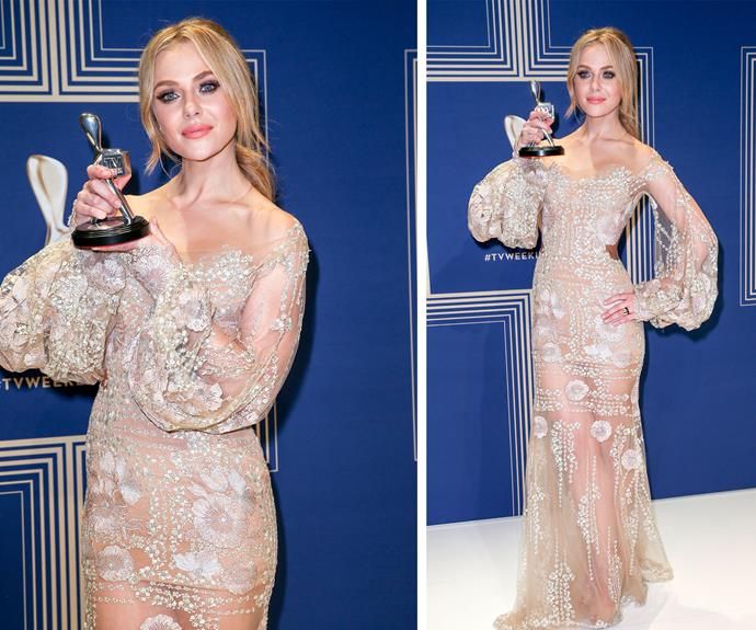 Jessica Marais looks great with a Silver Logie, and maybe *even better* with a Gold Logie!