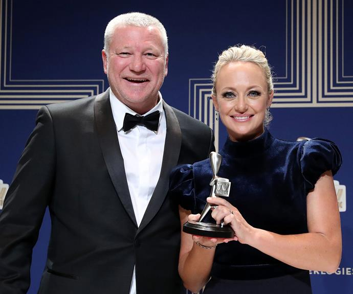Shelly Craft and Scotty Cam are going home with a Logie for The Best Reality TV program for their work on *The Block*. No doubt Scotty will also turn this statue into a nifty bottle opener - like he's done with all his others.