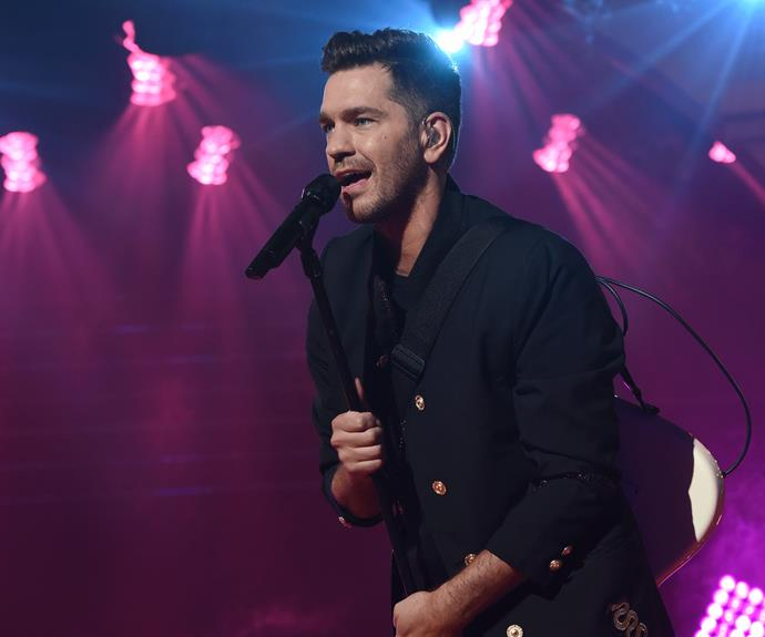 American muso Andy Grammer rocking out at the TV WEEK Logie Awards.
