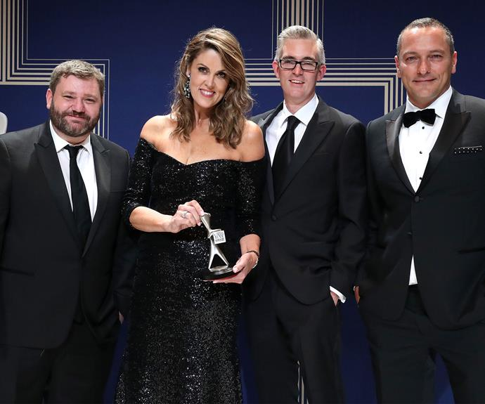 The Sky News team with their Logie for Most Outstanding News Coverage.