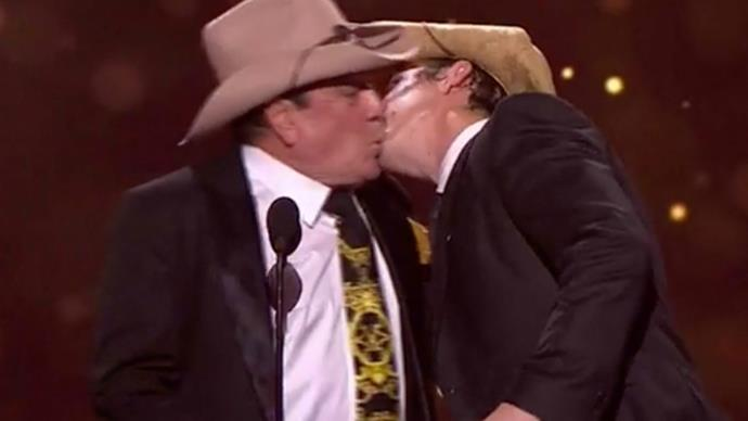 Molly Meldrum and Samuel Johnson