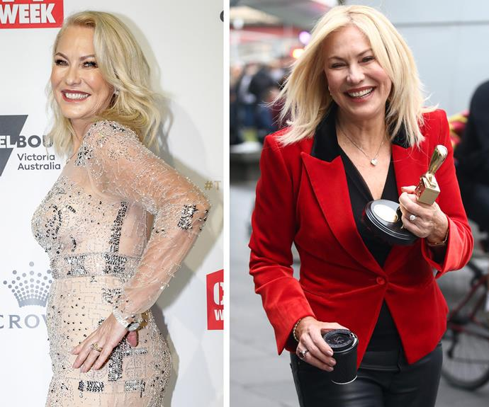 "All hail Queen KAK! [The Hall of Fame star](http://www.nowtolove.com.au/celebrity/tv/kerri-anne-kennerley-hall-of-fame-speech-36934|target=""_blank"") clutches her gong and a coffee the morning after the night before - a woman after our hearts."