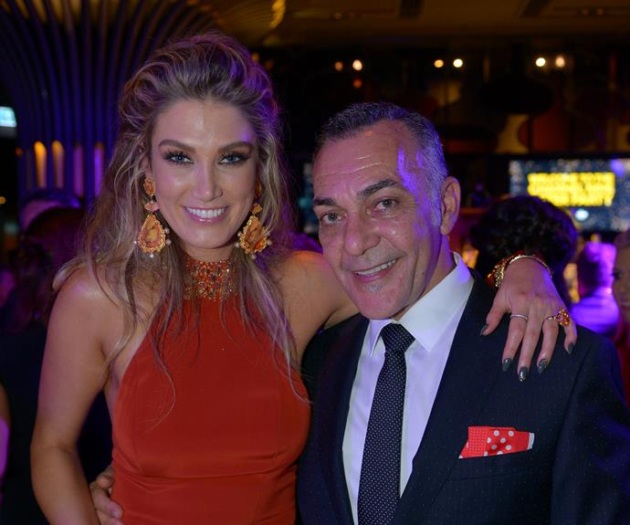 The singer and John Lazarou.