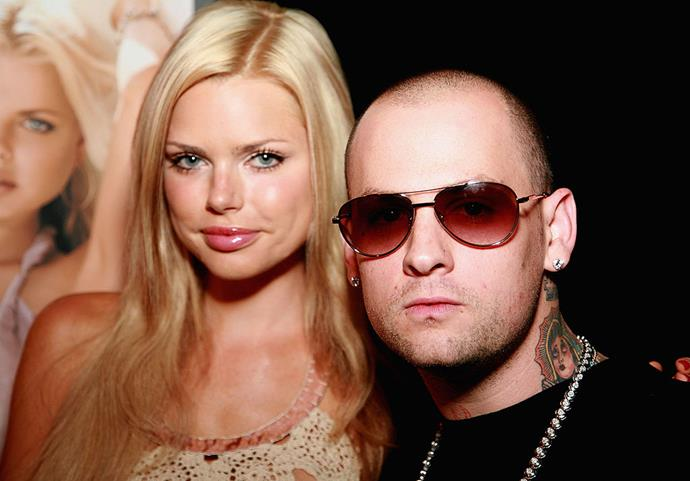 Sophie Monk and Benji Madden during their romance.