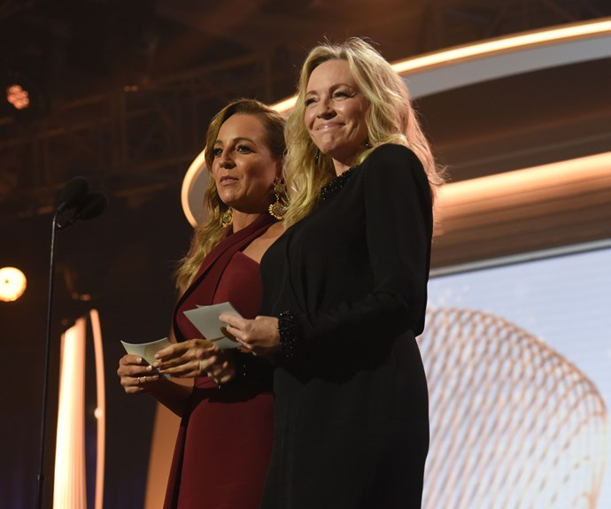 Rebecca Gibney was clearly proud as punch of her former on-screen daughter.