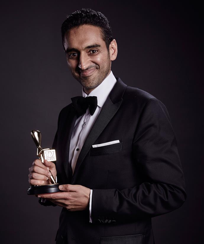 Waleed Aly with his Gold Logie at the TV WEEK Logie Awards in 2016.