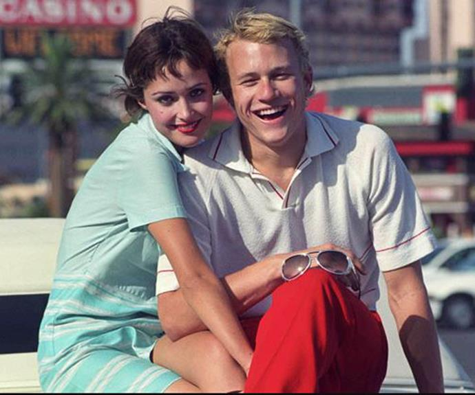 Rose Byrne and Heath Ledger on the set of Two Hands