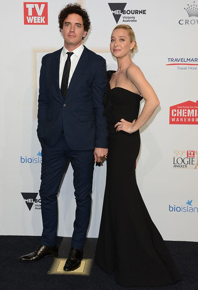 *Offspring's* Asher Keddie and her artist husband Vincent Fantauzzo made a statement in black.