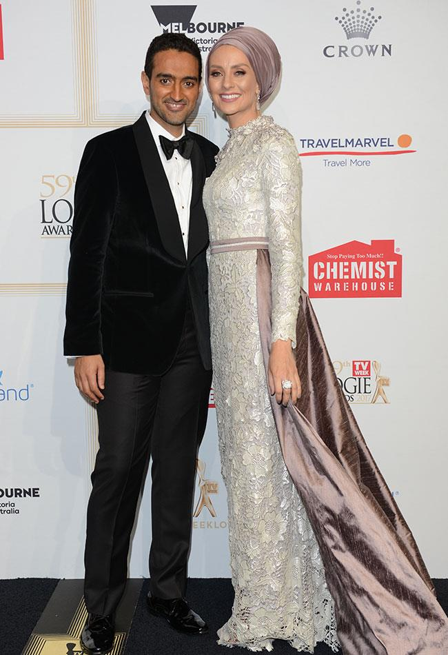 *The Project's* Waleed Aly and his wife Susan Carland were all smiles.