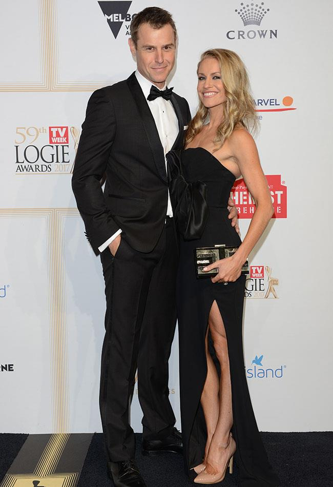*Doctor Doctor* star and Gold Logie nominee Rodger Corser looked dashing alongside his wife Renae, who loooked stunning in her strapless black dress.