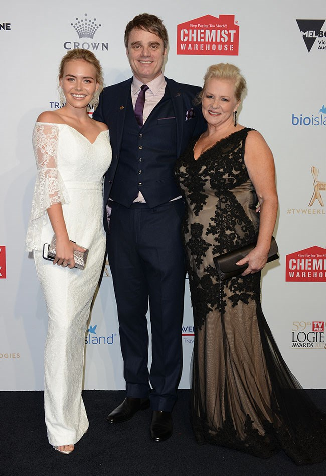 We are family! Lilly Van Der Meer, Damien Richardson and Colette Mann were happy as can be at the TV WEEK Logies.