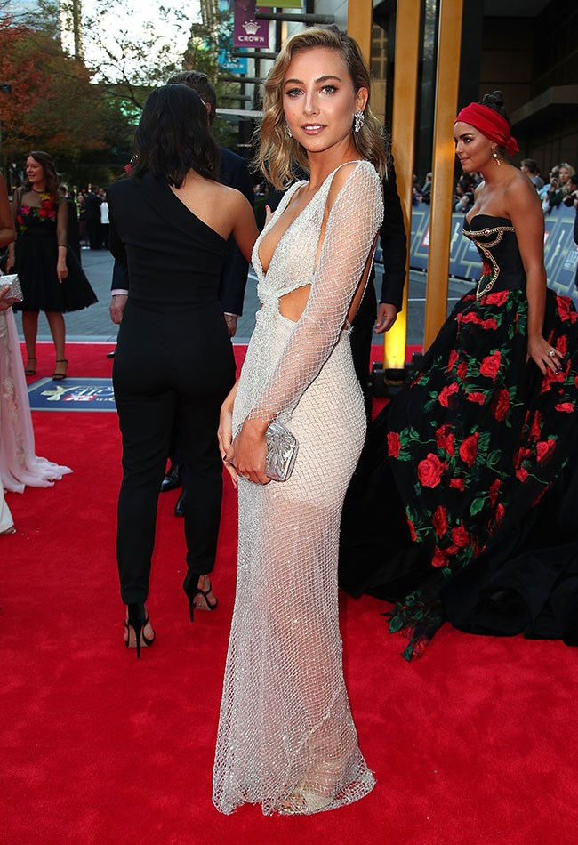Mavournee Hazel shone on the TV WEEK Logie Awards red carpet in her sparkly Cappellazzo Couture gown.