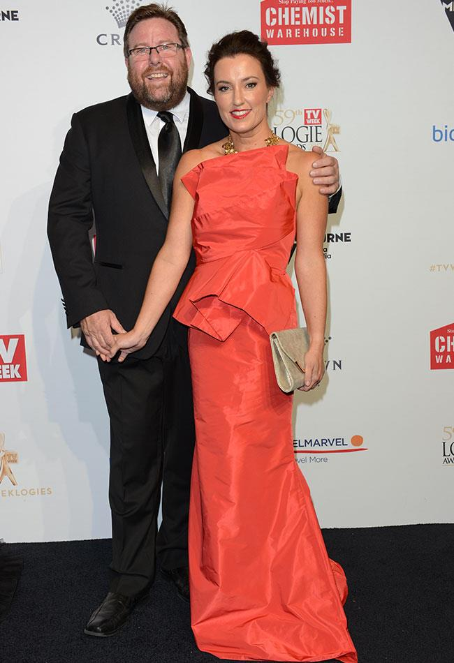 Shane Jacobson looked ecstatic to be at the Logie Awards with his beautiful wife Fliss, who stunned in a bright orange dress.