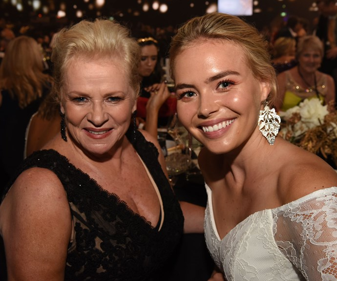 Colette Mann and her on-screen granddaughter Lilly Van Der Meer were all smiles during the awards ceremony.