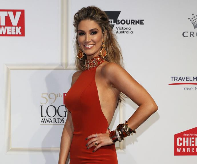 Delta Goodrem on the TV WEEK Logies red carpet.