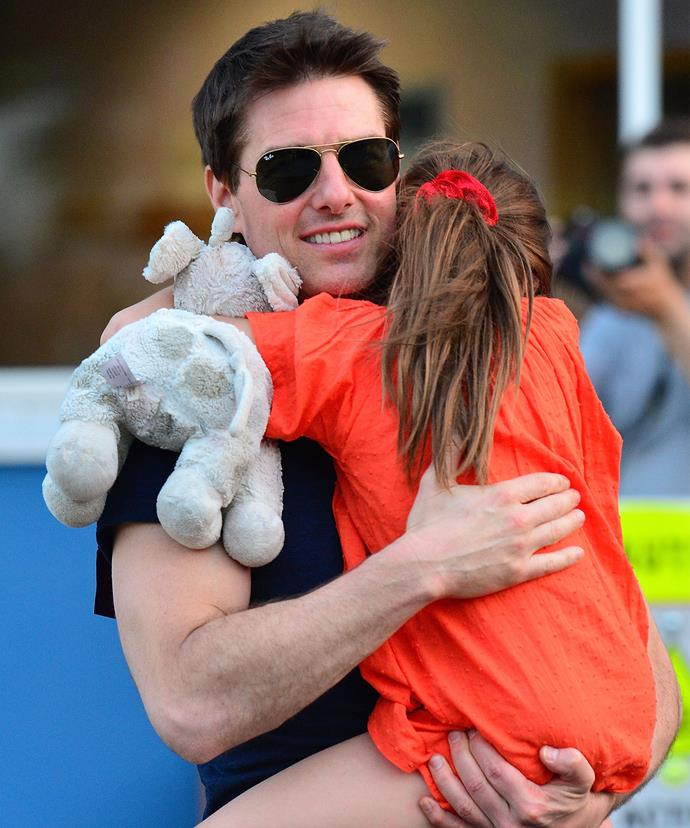 Tom, pictured here in 2012, hasn't been seen with Suri in several years.