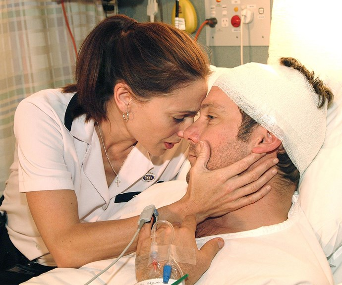 ALL SAINTS: Erik played Mitch Stevens who was in love with Terri (Georgie Parker).