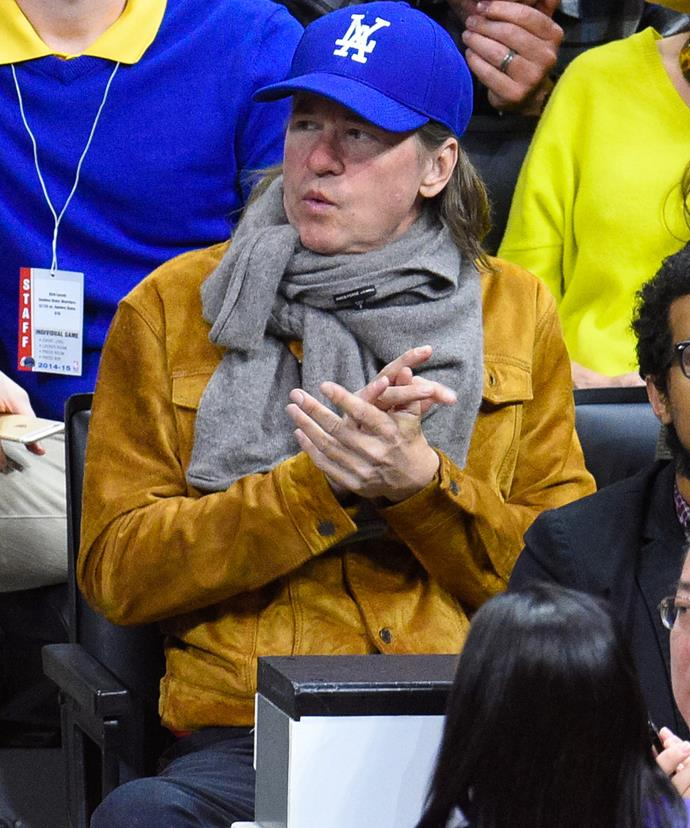 Val has been spotted on multiple occasions covering his neck with scarves and bandanas.