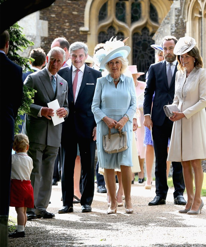 Prince Charles with the Middleton clan at Princess Charlotte's christening in 2015.