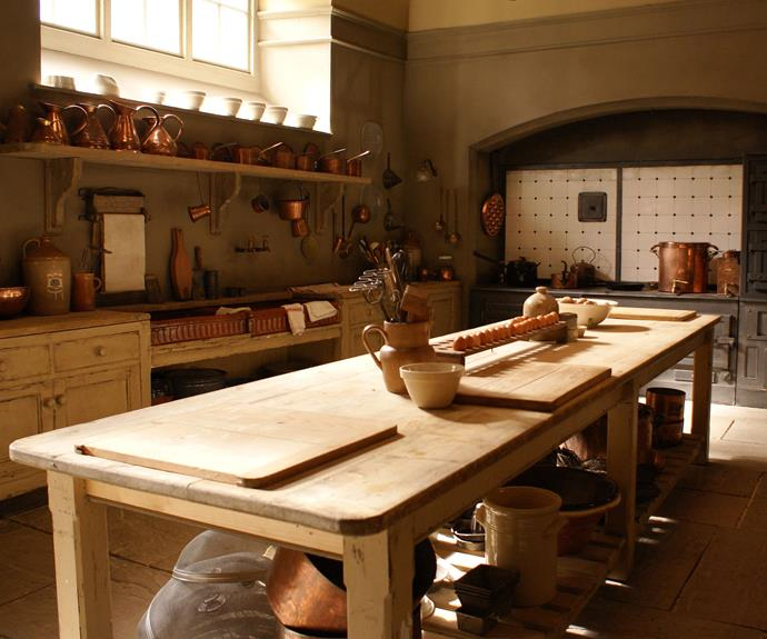 Stroll through Mrs Patmore's kitchen.
