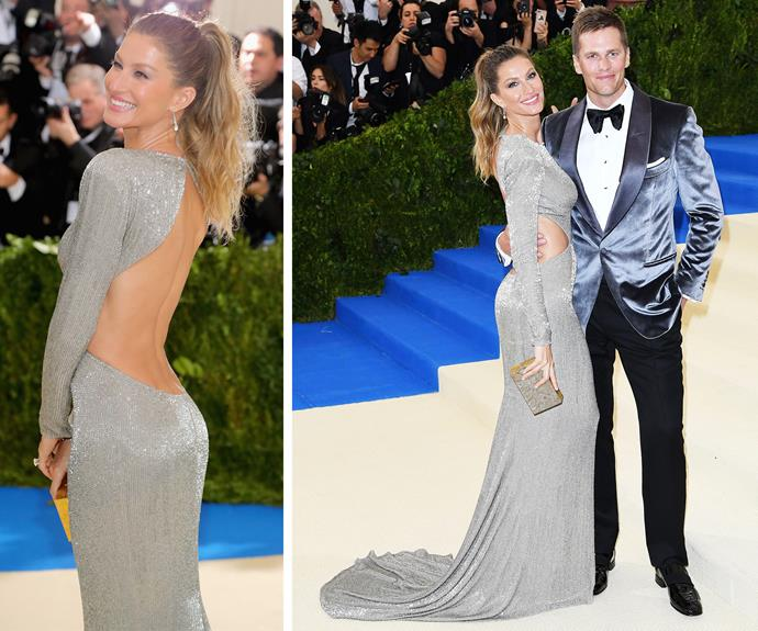 Hollywood royalty Gisele Bündchen and Tom Brady are kicking major goals with their coordinating silver ensembles.