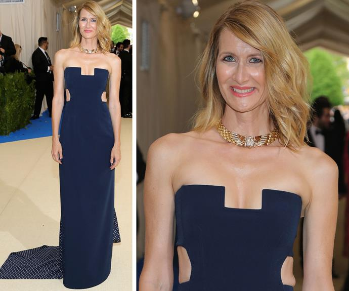*Big Little Lies* favourite Laura Dern makes a seriously big impression in this cut-out dress.