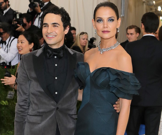 The 38-year-old is joined by designer and close friend, Zac Posen.