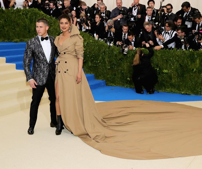 Priyanka Chopra and Nick Jonas lap up the moment.