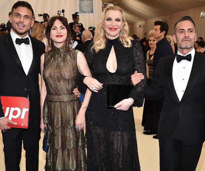 The ladies join Char Defrancesco and Marc Jacobs.