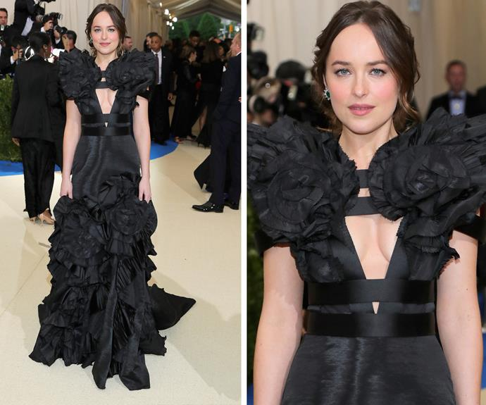 Dakota Johnson in Gucci.